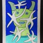 Star Fish Green Face